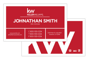 Modern Keller Willimas custom design business cards