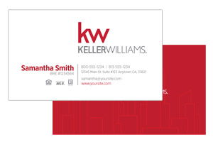 Pre-designed simple Keller Willimas business cards