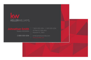 Horizontal business cards for Keller Williams