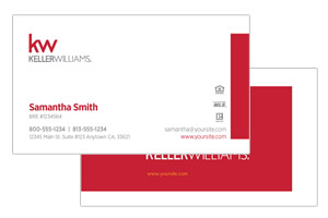 Keller Willimas business cards simple and clean