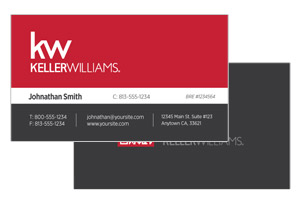 Modern simple business cards for Keller Willimas realtor agents