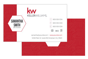 Real Estate business cards for Keller Williams agents