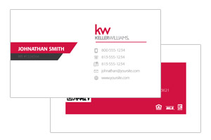 Keller Williams realtor business cards