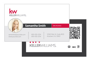 Modern Pre-designed business cards for Keller Williams agents