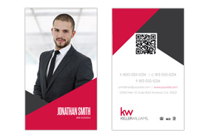 Modern Pre-designed business cards for agents