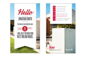 Simple modern business cards for Keller Williams agents