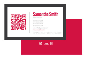 Modern real estate business cards for Keller Williams agents