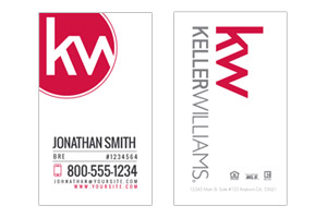 Mmodern deisnged business card designs for Keller Williams agents