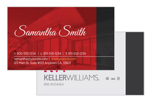Pre-designed modern business card designs for Keller Williams agents