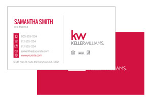 Custom Pre-designed business cards for Keller Williams agents