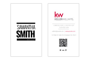 Custom Pre-designed business cards for Keller Williams realtors