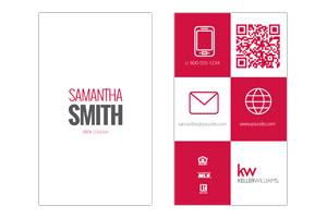 Custom designed business cards for Keller Williams realtors