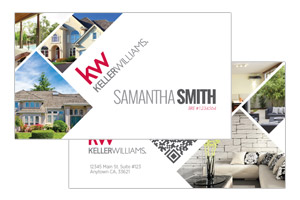 Custom business cards designs for Keller Williams realtors