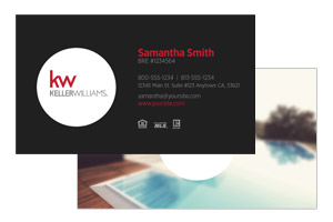 Business card design and print for Keller Williams realtors