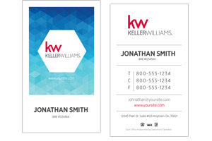 Custom Keller Williams real estate business cards