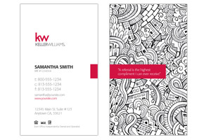 Keller Williams custom real estate agents business cards