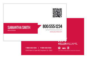Keller Williams agents custom business cards