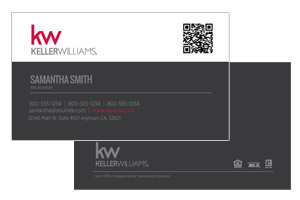 Keller Williams agents custom designed business cards design