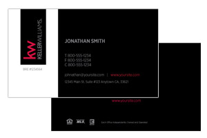 Keller Williams agents custom business cards design and print