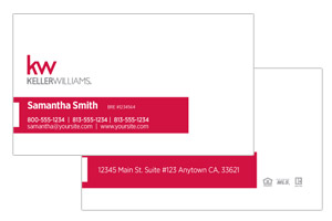 Simple clean Pre-designed Keller Williams business cards