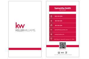 Simple clean Pre-designed Keller Williams realtor business cards