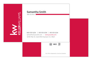Custom Keller Williams realtor business cards