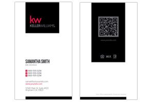 Real Estate business cards, Keller Williams