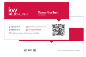 Sleek business card design for Keller Williams realtors