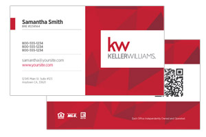 Fun business card design for Keller Williams agents