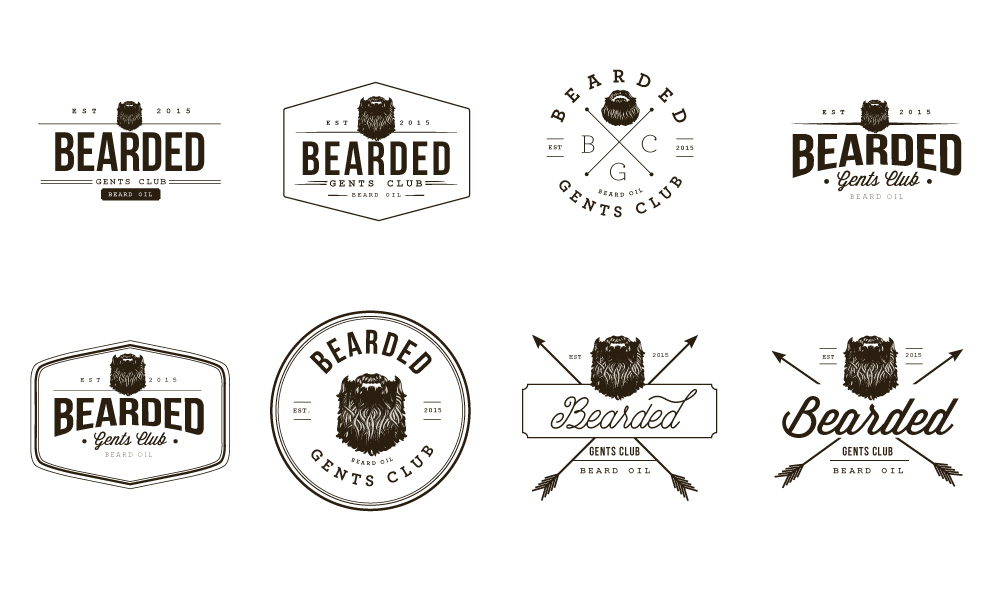 bearded logo concepts
